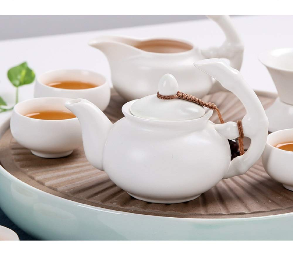 Chuangrong Porcelain Tea Sets Portable Ceramic Teapot Chinese Gift Tea Set of 13 Gift Box for Business Friend Adult Men