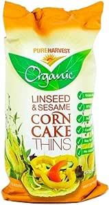 Pureharvest Organic Linseed & Sesame Corn Cake Thins, 150 g