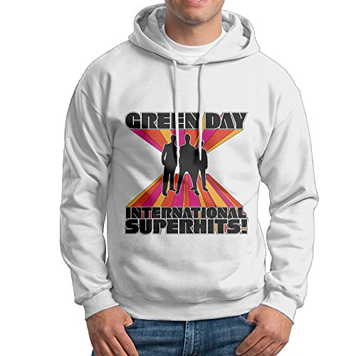 Green Day International Superhits College Pullover Men White