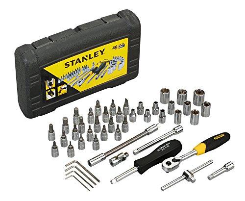 "STANLEY STMT72794-8-12 1/4"" Square Drive Metric Socket Set -46pcs Price & Reviews"