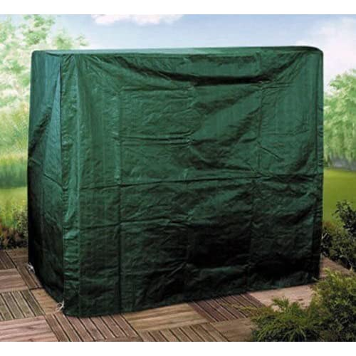 Garden mile® Heavy Duty Green Weatherproof Garden Swing Seat Hammock Furniture Covers UV Protected For Garden Patio Sets, Wooden Benches, BBQ's, Chimeneas And Firepits. Secure Drawstring Fastening. (3 Seater Swing Seat Cover)