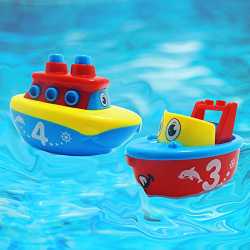 Bath Toys For Boys : Bees me bath toys for boys and girls magnet boat set