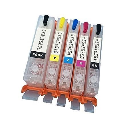 Bramacartuchos PGI550 - Set de 5 cartuchos recargables