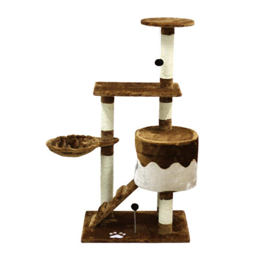 Deluxe Multi Cat Tower cat Trees Towers Qing Quan sisal Cat Scratch Board cat Hammock Three Layer cat Toy 90  51  130cm