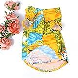 ETOSELL Pet Dog Clothes Hawaiian T Shirt Summer Apparel Clothing Beachwear Ye...