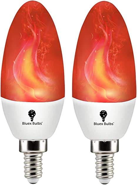 Box of 18 NEW FLICKER FLAME C7  LIGHT BULB candle 3 watt E12 candelabra base 3w