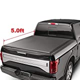 oEdRo TRI-FOLD Truck Bed Tonneau Cover Compatible with 2016-2018 Toyota Tacoma | Fleetside 5' Bed |
