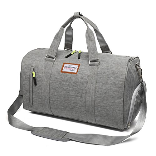 Kenox Duffle Bag Sports Gym Travel Luggage Including Shoes Compartment
