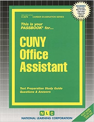 CUNY Office Assistant (Passbooks): Passbooks: 9780837345765 ...
