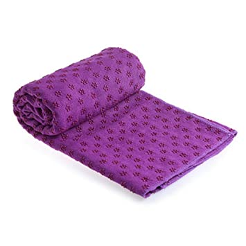 HW Toalla de Microfibra Antideslizante para Yoga - Toalla Super Absorbente de Yoga para Yoga, Pilates y Ejercicios con Antideslizante Inferior - 183 * ...