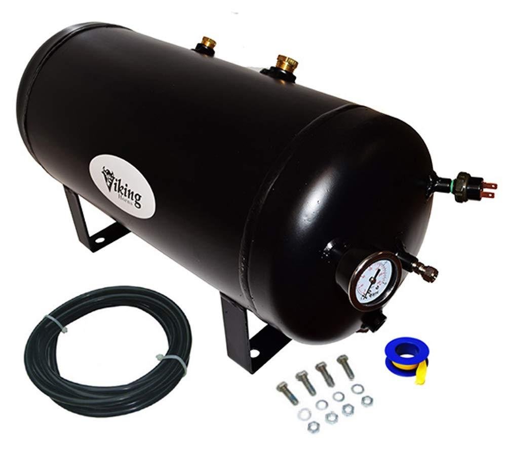and 5 Gallon air Tank Viking Horns V103C-6//310 Loud 162 Decibels 4 Trumpet Train Air Horn Kit with 200 PSI Compressor