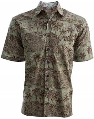 Coastal Dusk Mens Cotton Batik Shirt By Johari West