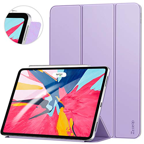 Ztotop Case for iPad Pro 12.9 Inch 2018, Strong Magnetic Ultra Slim Minimalist Smart Case, Trifold Stand Cover with Auto Sleep/Wake for iPad Pro 12.9 Inch 2018 Release (3rd Gen), Purple
