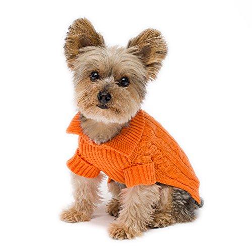 Stinky G Tangerine Aran Dog Sweater Size #10 Small