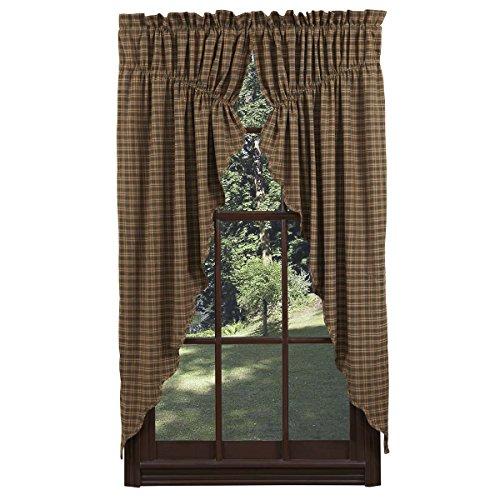 VHC Brands Barrington Prairie Curtain Scalloped Lined Set of 2 63x36x18 (Barrington Mirror)