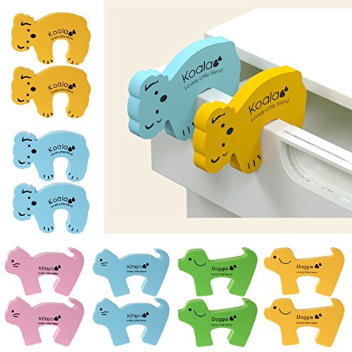 Price comparison product image 10 pcs Door Stop Cute Animal Wedge Protection Baby Children Safety Guard Stopper Lock