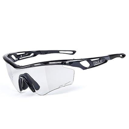 Gafas de sol de conducción de los hombres Gafas de sol polarizadas para ciclismo al aire