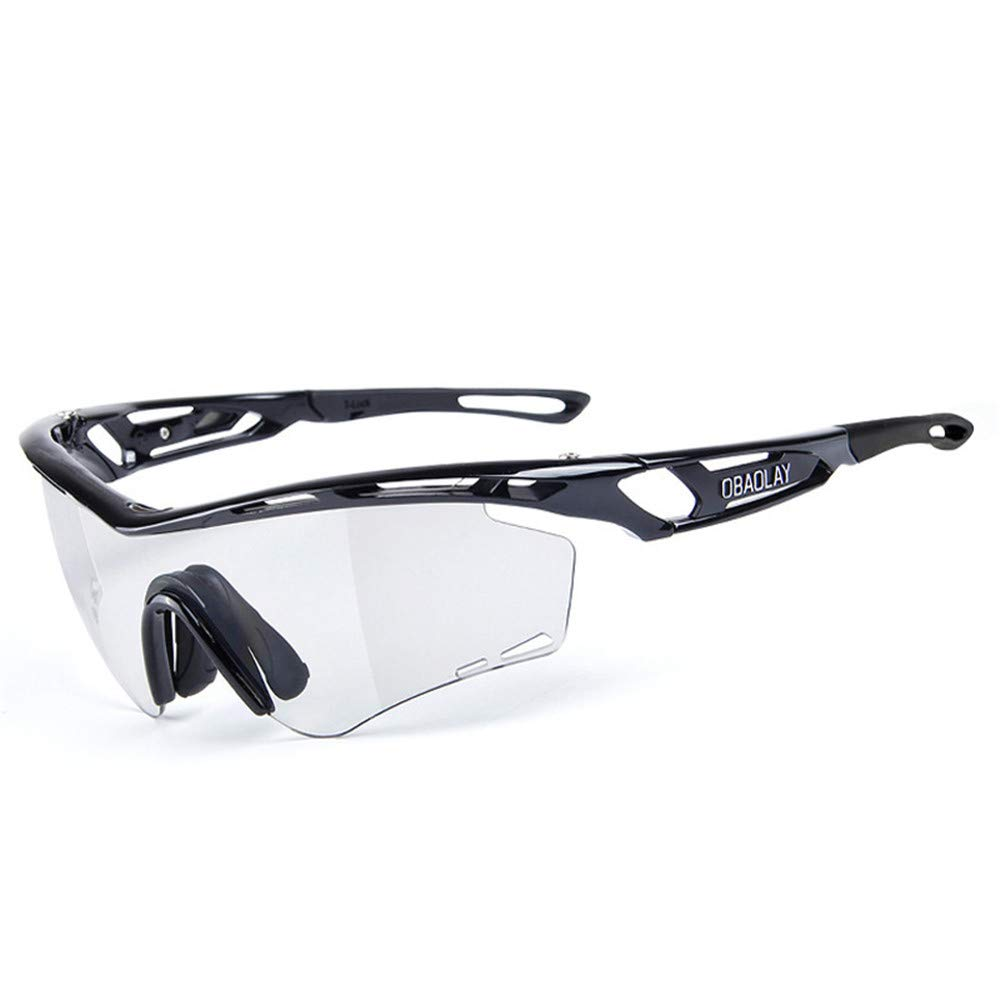 YFFS Outdoor Cycling Polarized Sunglasses Intelligent Myopia Discoloration Cycling Glasses Polarized Light (颜色 Color : Black)