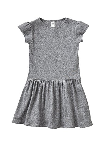 Rabbit Skins Baby Clothes - Rabbit Skins Toddler Girls' 100% Cotton Dress (Heather, 2 Toddler)