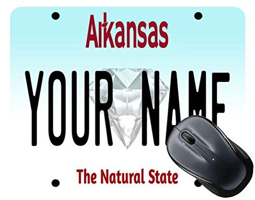 BleuReign(TM) Personalized Custom Name Arkansas State License Plate Square Mouse (Arkansas Square)