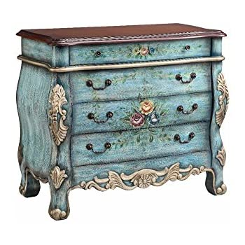 Stein World Furniture 4 Drawer Hand Painted Chest With Floral Accent
