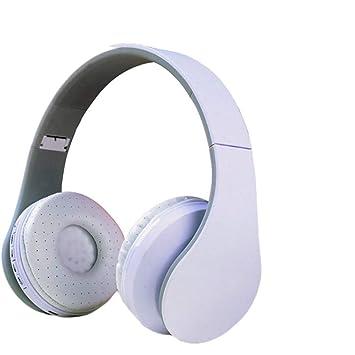 LVMMLE Auriculares Inalámbricos Bluetooth Headset 4 En 1 Auriculares con Micrófono Micro SD TF FM Radio