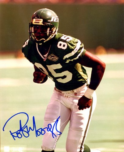 - Rob Moore Autographed/ Original Signed 8x10 Color Action-photo Shown w/ the New York Jets in the 1990s (version 2)