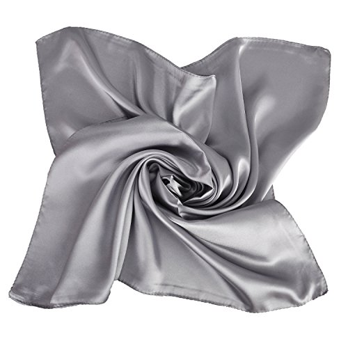 (Fashion Elegant Style Bandana Square Silk Feel Head Scarf Neck Wrist Wrap)