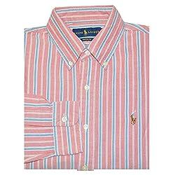 Polo Ralph Lauren Men's Button Down Stripe Custom Fit Shirt