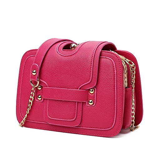 Meoaeo Atmosférica Simple Señoras Bolso Rosa Roja Rose red
