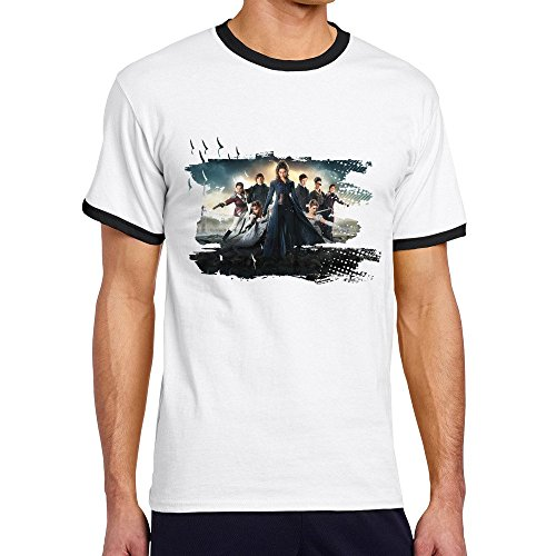 Men's Cool Pride And Prejudice And Zombies Contrast Ringer Tee L -