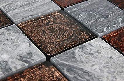Mosaico con mosaico di vetro mosaico piastrelle marmorizzato vetro