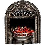 JYWIN-Camino-Elettrico-Stufa-elettrica-con-Telecomando-Temperatura-Regolabile-750W-1500W-caminetto-Decorativo-Indipendente-con-bruciatore-a-Legna-Oro