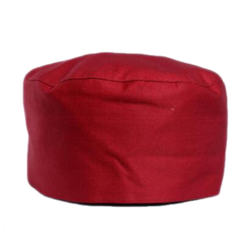 Japanese Fashion Cook Hats Hotel Cafe Flat Hat Adjustable Chef Hats-Red George Jimmy