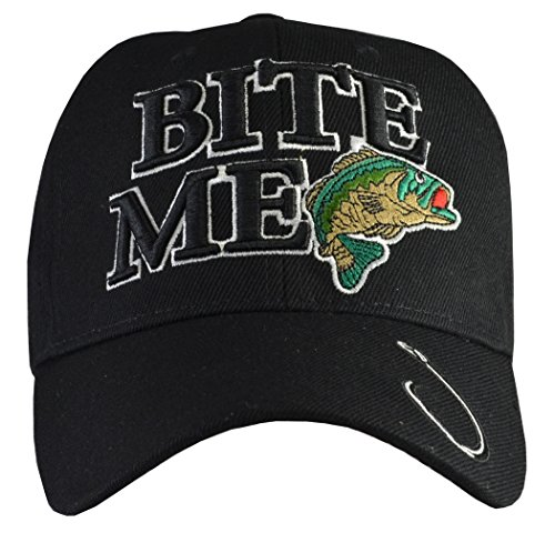 Bite Me Fishing Hat Black