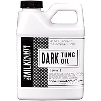 Real Milk Paint Dark Raw Tung Oil - 16 oz.