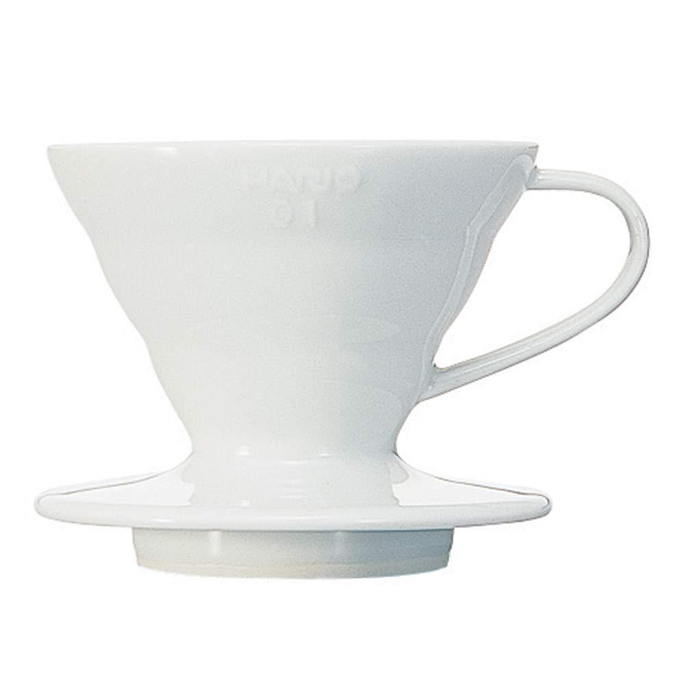 Hario V60 Ceramic Coffee Dripper, Size 01, White