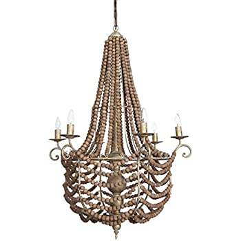 Huge Beaded Wood Ball Chandelier Quot The Parlor Quot Round 43