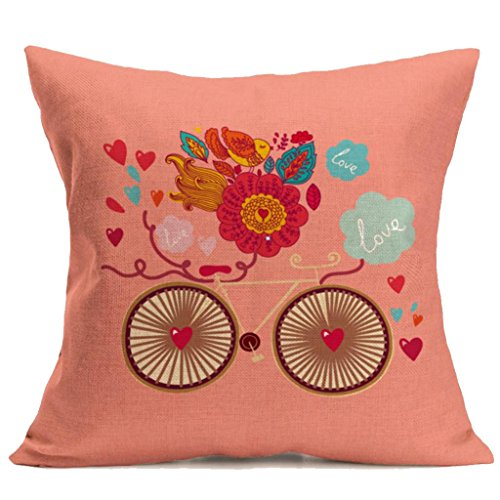 Happy Valentine Love Painted Cushion Case,FimKaul 2018 Sofa Bed Cafe Throw Waist Hidden Zipper Home Decor Pillow Cases (Painted Sofa)