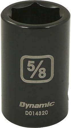 Dynamic Tools 1//2-Inch Drive 6 Point SAE 1-1//4-Inch Deep Length Impact Socket
