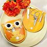 Cute Owl Manicure Set Nail Tools Scissors Eyebrow Tweezers Beauty Products Makeup Tools For Wedding Favor, Set of 72