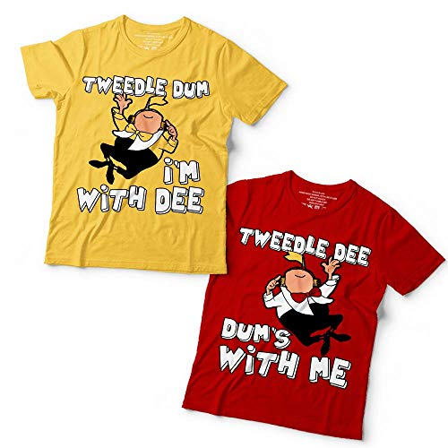 Tweedle Dum Dee Twin Couple Shirt Halloween Costume Family Matching Group Customized Handmade T-Shirt Hoodie/Long Sleeve/Tank Top/Sweatshirt -