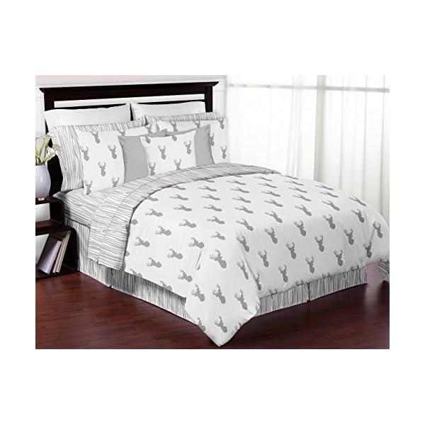Sweet Jojo Designs Boys Accent Floor Rug Bedroom Decor for Grey and White Woodland Deer Kids Bedding Collection