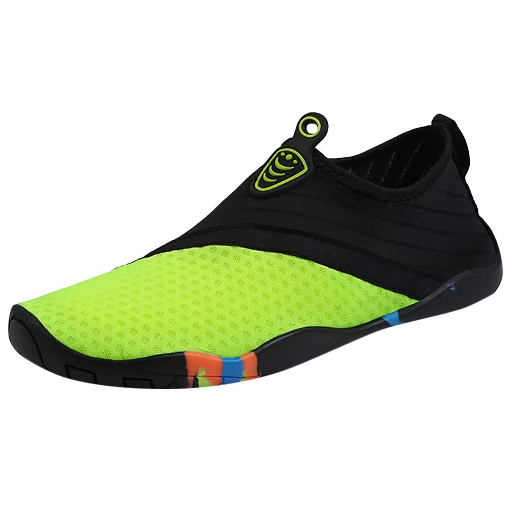 Unisex Water Shoes Respctful✿ Mens Womens Lightweight Water Shoes Non-Slip Barefoot Beach Pool Shoes Quick-Dry Aqua Yoga