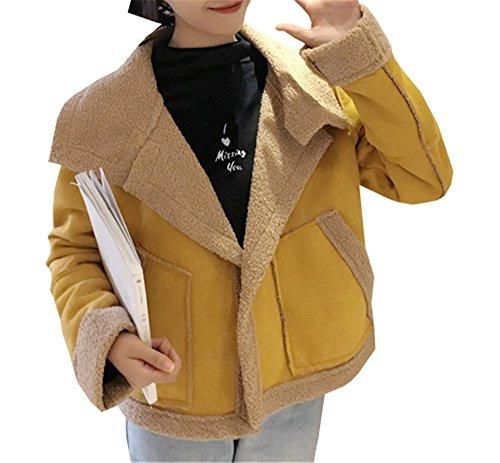 COCO Manga para amarillo mujer Larga clothing Blusa Abrigo 4PqSwA4