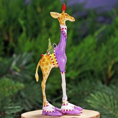 Patience Brewster Krinkles Mini George Giraffe Ornament 08-30952 Christmas Giraffe Ornament