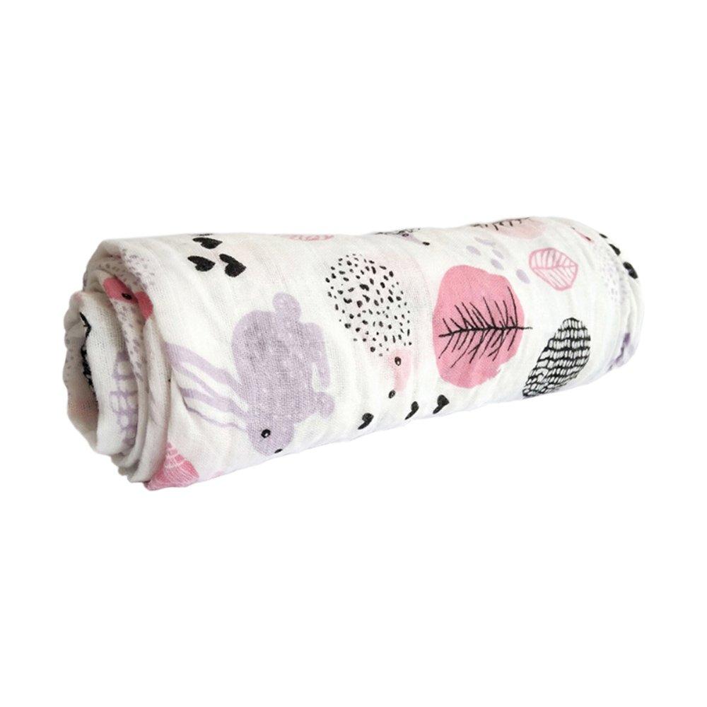 Miracle Baby Musselin Wickeldecke Baumwolle Empfangstheke Babyparty Geschenk Pflegedecke 59x 39 Einschichtig,Kaninchen