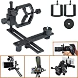 Gosky Fully Metal Telescope Camera Adapter Smartphone Adapter Telescope Stand Holder Smartphone Connection Adapter - Works with Virtually Any Point-and-shoot Digital, SLR, and DSLR Cameras DSLR - for Telescope Binocular Monocular Microscope - 1.25 Inch an