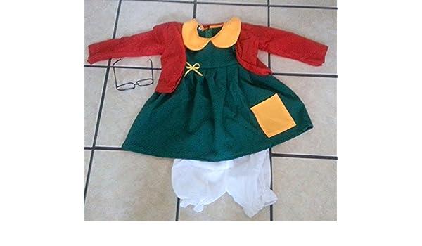 Amazon.com: Chilindrina Costumes Nina Size 4 Party Halloween ...