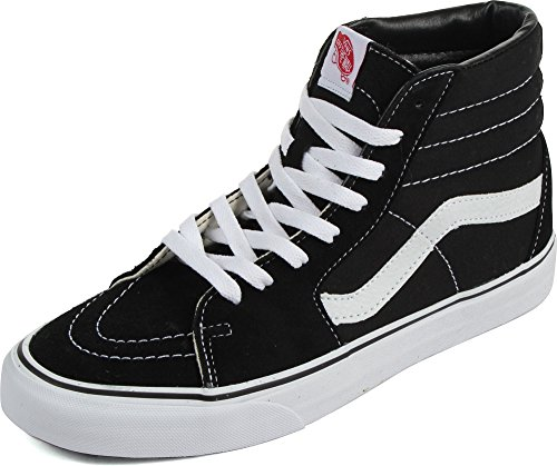 "Vans ""Sk8-Hi Sneakers (Black/White) Unisex Canvas Suede Skate High-Top Shoes"